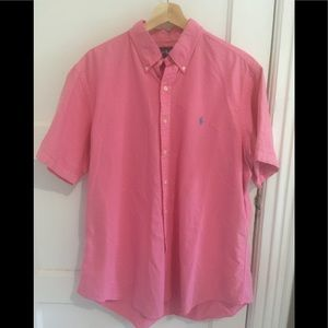 Ralph Lauren pink short sleeve XL
